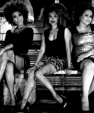 Da direita para esquerda, Nanny Soul, Corina Sabbas e Graça Cunha.